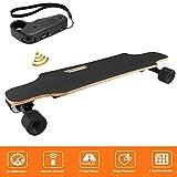 Acecoree Elektrisches Longboard, Elektroboard mit Drahtloser Direktübertragung, motorisiertes Elektrisches Ahorn Skateboard,Motorleistung: 350W, 20 km/h (Schwarz)