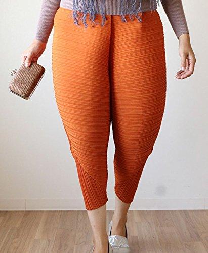 Longwu Damen Leggings Orange
