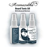#1: Men's Beard & Hair Growth Tonic Oil with Advanced Moisturizer(50ML)100% Pure & Natural - By Aromazotika. FAST HAIR GROWTH TONIC.