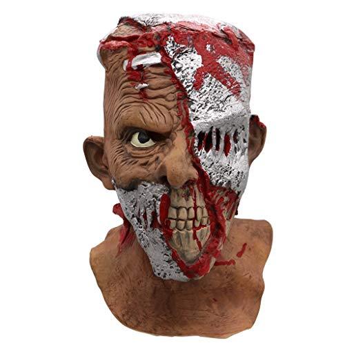 QXLhxuIo-Spielzeug Halloween Scary Mask Melting Face Latex Kostüm für Erwachsene Walking Dead - Dead Disco Kostüm