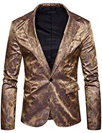 HX fashion Slim Fit Mens Blazer Pattern Elegante Prom Tuxedo Blazer Taglie  Comode Jacket Wedding Vintage dc0912cb556