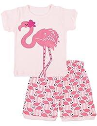Tkiames Precioso pijama 100% algodón 2 pieza Pijama para Niña de