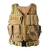 YAKEDAles fans de l'armée veste tactique CS terrain de plein air fournitures respirant veste tactique léger entraînement au combat des forces spéciales SWAT Tactical veste gilet - VT-1063 (couleur de la boue)