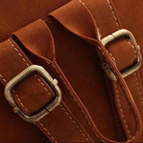 Tassel Fashion Casual Weiblichen Rucksack,Black Brown