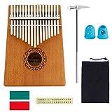 Kalimba pouce Piano 17principales en acajou doigt Piano Instrument pour amateurs de musique
