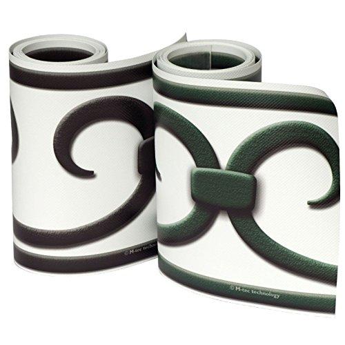 PVC Design Streifen Motiv Prag Deko Sichtschutzstreifen weiß-anthrazit