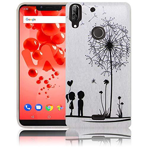 thematys Passend für Wiko View 2 Plus Pusteblume Handy-Hülle Silikon - staubdicht stoßfest und leicht - Smartphone-Case