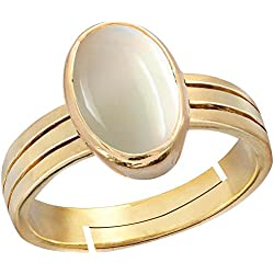 Gemorio Opal 4.8cts or 5.25ratti stone Panchdhatu Adjustable Ring For Women