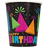 9oz Neon Party Paper Cups, Pack of 8