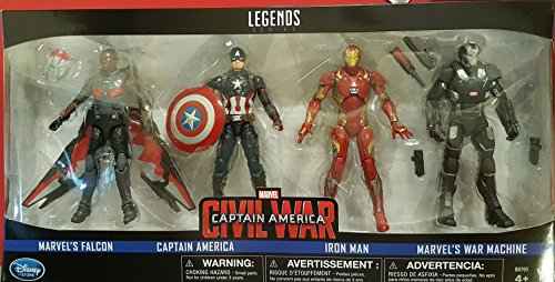 Game of 4 figurines Captain America: Civil War, from the Marvel Legends series