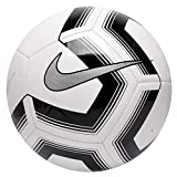 Nike Pitch Training Soccer Ball, Pallone da Calcio Unisex Adulto, White/Black/Silver, 5