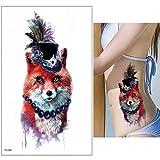 Handaxian 3pcs Tatuaggio Angelo Battito Diavolo Disegno Bracciale Uomo Tatuaggio Acquerello 3pcs-12