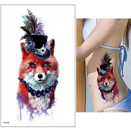 poräre Tiger Tattoo Blume arm körper zurück unteren Brust Tattoo körper gemalt Tier Tattoo Coole weibliche männer strümpfe Tattoo temporäre Tattoo 2 Stücke- ()