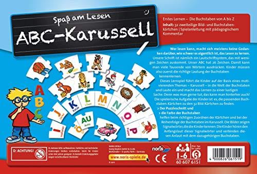 Noris Spiele 606076151 – ABC Karusell, Kinderspiel - 2