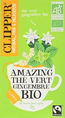 Clipper Amazing The Vert au Gingembre Bio 35 g