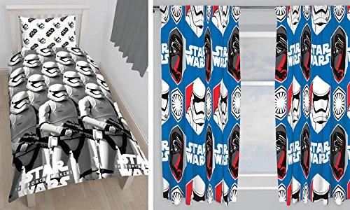 Wars Quilt Star Set (Star Wars Wecken wendbar Einzelbett Set und passende 167,6x 182,9cm Vorhänge)