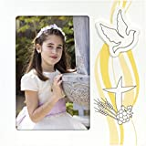 Zep w4546Collection cumpleaños Clara marco de fotos especial Comunión madera color blanco/amarillo, blanco/amarillo, 10 x 15 cm