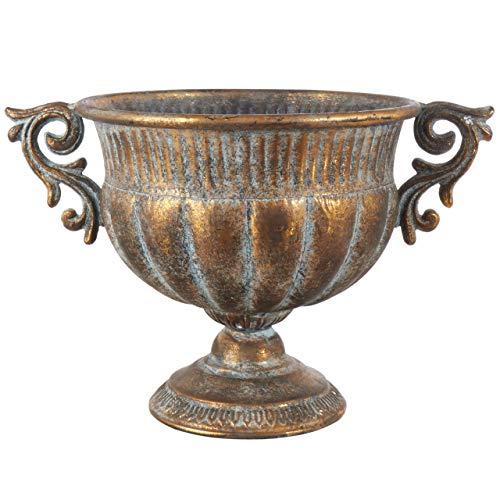 Affari Pflanzengefäß Blumentopf Schale Chantal 38cm antik-Gold