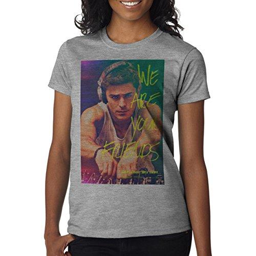 We Are Your Friends Movie Summer WAYF Zac Drops A Beat Background Damen T-Shirt Grau