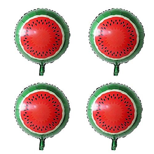 (sourcingmap® Folie Wassermelone Druck Ballon Hochzeitsfeier Feier Dekor 13 Zoll 4 Stück DE de)