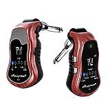 Muynow Gitarre Effektor Bluetooth Gitarre Transmitter mit Sender und Empfänger Gitarre Synthesizer Anschluss 3,5 mm Mini Gitarrenverstärker mit 5 Sound Effekte Led Anzeige Wiederaufladbar