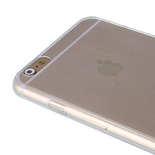 "RE:CRON® iPhone 6 Plus (5,5"") Silikon Case Hülle Cover transparent - pink Transparent"