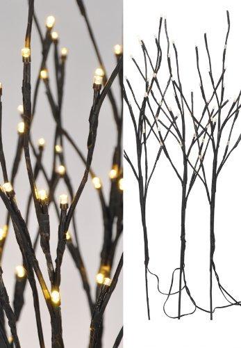 Spetebo LED Lichterzweige 3er Set - 60 warmweisse LED für Innen und Außen geeignet - Weihnachtsdeko Zweige