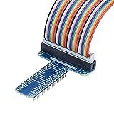 VBESTLIFE Scheda di Estensione GPIO T-Type + Cavo Piatto a Nastro da 40 Pin per Raspberry Pi 1B + / 2B / 3B