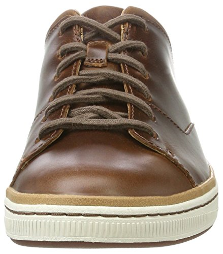 Clarks Norsen Lace, Francesine Uomo Marrone Scuro (Dark Tan Lea)
