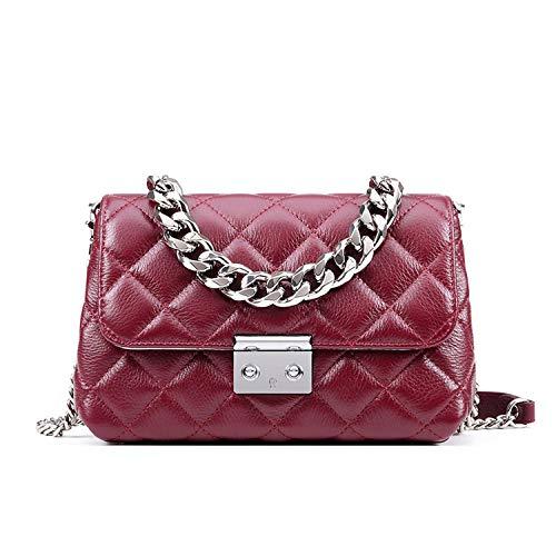 075f73e427668 Designer Women Chain Shoulder Bag Genuine Leather Handbag Ladies Messenger  Bags Luxury Female Casual Handbags