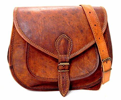 Handgemachte echtes Leder-Damen-Schultaschen-Geldbeutel-Handtaschen-Weinlese-Umhängetasche