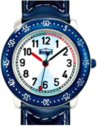 Montre Scout - 280378016 - Enfant Garçon - Quartz Analogique - Bracelet Cuir Bleu