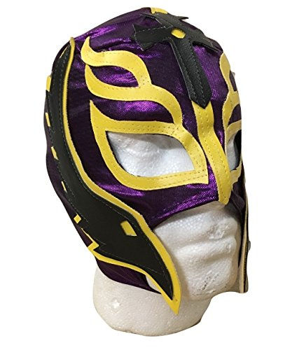 UK Halloween Karneval Cosplay Lila Wrestling Rey Mysterio Son of the Devil Reißverschluss - Kinder Voller Kopf Maske - Kostüm Verkleidung Kostüm Outfit Wwe Party