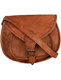Ramraj - 100% Pure Genuine Real Handmade Ladies Crossover Shoulder Messenger Leather Bag