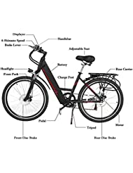 """Vélo électrique 26"""" ZEARO E-Bike VTT Homme Batterie Lithium Ion 36V 9Ah 250 W Bicyclette adulte"""