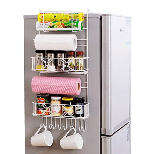 ChaRLes Over Door Freezer Storage Rack Küche Pantry Gewürz Organisatoren Regal Platz Sparer Körbe -