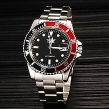 Fenkoo Hombre El reloj mecánico / Reloj de Pulsera Cuerda Automática Calendario Acero Inoxidable Banda Plata Marca