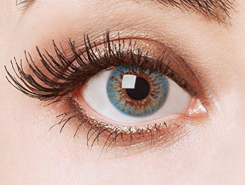 aricona Farblinsen | farbige Kontaktlinsen ohne Stärke | natürlich blaue 12 Monatslinsen | bunte eisblaue Jahreslinsen | Beauty contact lenses