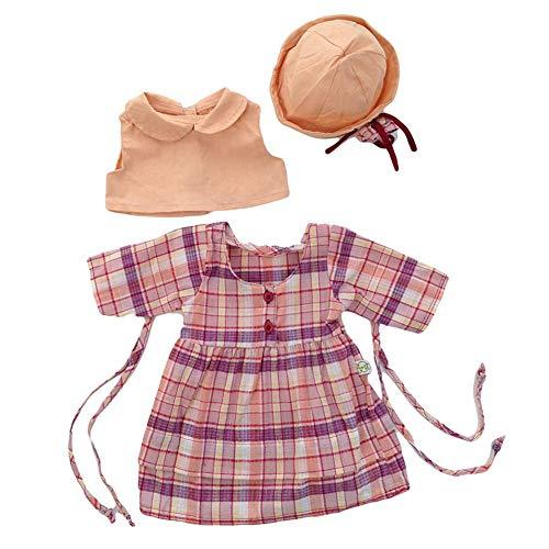 Kostüm Schönheit Hut Jacke Rock Check Rock Set Lady of England Puppen Spielzeug für Mädchen Geburtstagsgeschenk ()