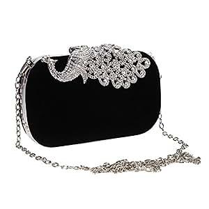 Sacchetto di sera, borsa della catena di placcatura di strass,nozze elegante frizione del partito delle donne alla moda