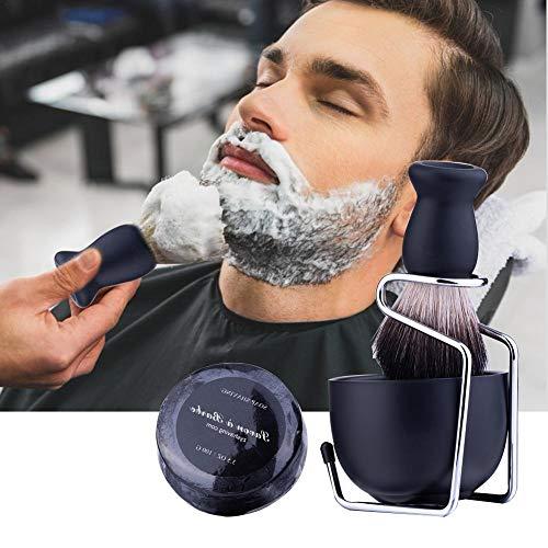 Blue-Yan Bartbürstenhalter für tragbare Männer Bartbürstenseifenschale Rasierseifen-Set