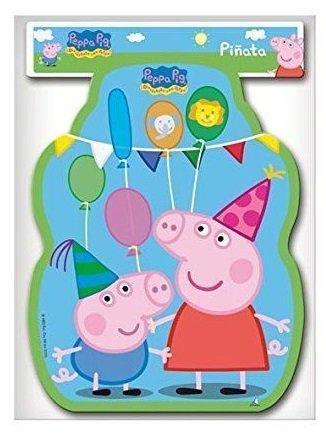 Lizzy® Peppa Pig Deluxe-Party-Zubehör für Kindergeburtstage, Design: Peppa Wutz, Box mit Tischdekoration im Mega-Deal (Piñata-Füllung, 33x 46cm)