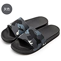 fankou The Cool Summer Sandals Men's Household Indoor Anti-Slip Bathroom Shower Thick, Soft Base for Couples Beach Slippers Female,44,V Gray