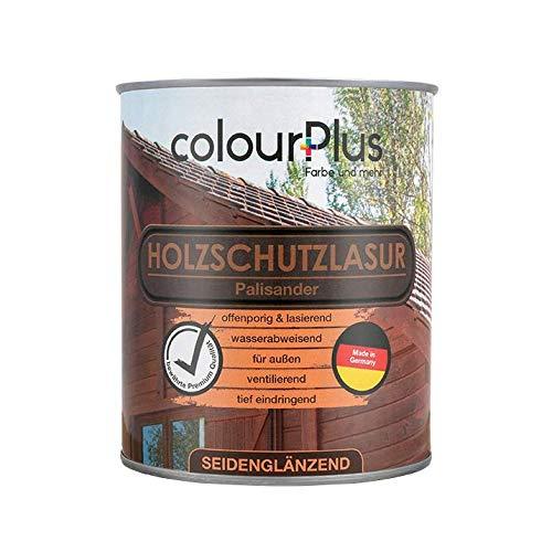 colourPlus Holzschutzlasur, seidenglänzend (750ml, Palisander) wetterbeständiger Schutzanstrich für Laub- und Nadelhölzer, Lasur Made in Germany