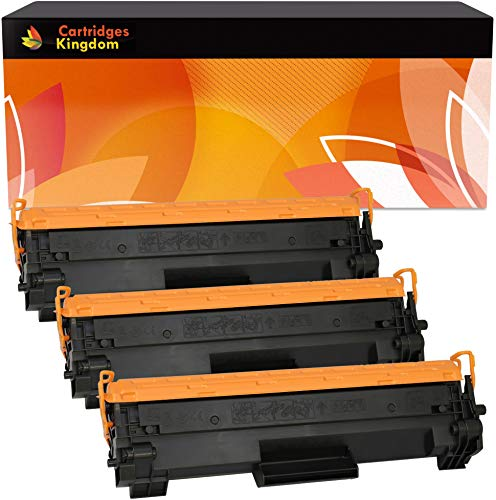 Cartridges Kingdom Pack de 3 Cartuchos de tóner láser compatibles con HP CF244A 44A para HP Laserjet Pro M15a M15w M16a M16w MFP M28a M28w M29a M29w