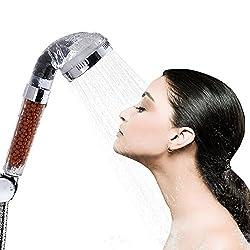 Dusche Kopf, Bukm Duschkopf Ionic Filter hohen Druck Wasser sparen Handbrause Filtration Sprinkler Sprayer Handheld Duschkopf für Wellnessbrause Home Badezimmer Hotel ...