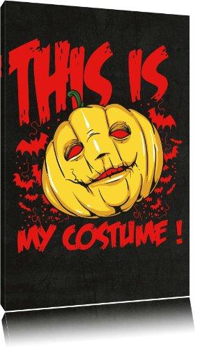 Abstrakte Kostüm Kunst Halloween (Dark My bloody Valentine black Bild auf Leinwand, XXL riesige Bilder fertig gerahmt mit Keilrahmen, Kunstdruck auf Wandbild mit Rahmen, günstiger als Gemälde oder Ölbild, kein Poster oder Plakat, Format:120x80)
