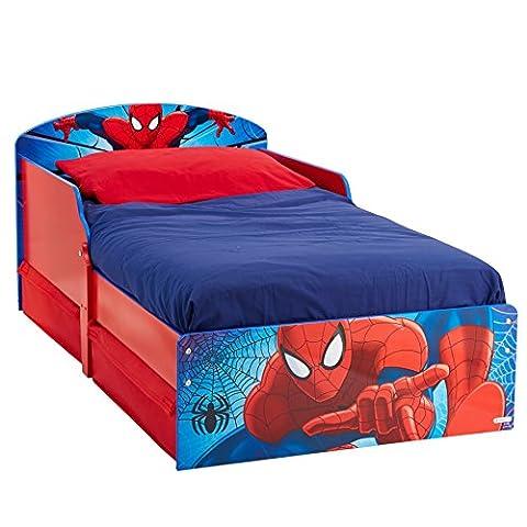 Lits Enfants Tiroirs - Spiderman Lit Enfant Avec Tiroirs De Rangement