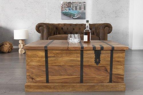 DuNord Design Couchtisch Hausbar BONAIRE 100cm Palisander Sheesham Massivholz Truhe Bar - 2