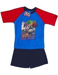 The Avengers Boys Super Heroes Shortie/Short Pyjamas Set 4 To 10 Years